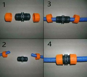 1 pcs Garden hose repair Extension Joint 3/4 garden joints Repair Joiner Connector