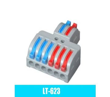 Wire Connector 2 In 6 Out Wire Splitter Terminal Compact Wiring Cable Connector Push-in Conductor