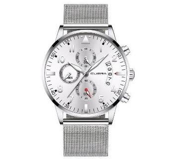 Original Cuena Stainless Steel Classic Analog Date Wristwatches