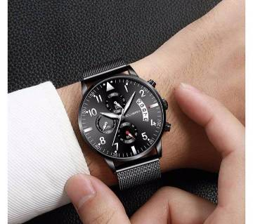 Cuena Stainless Steel Classic Analog Date Wristwatches