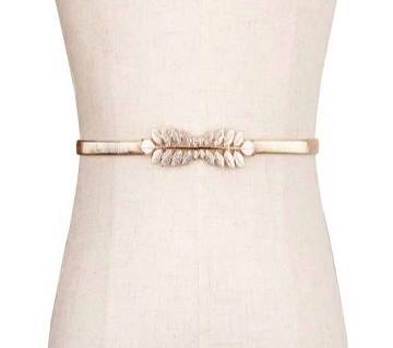 Elastic Stylish gold metal buckle Belts for women