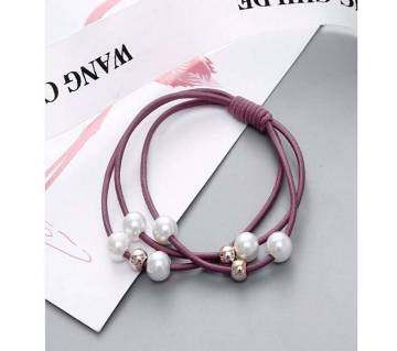 Elastic Rubber Pearl HairBands For Women