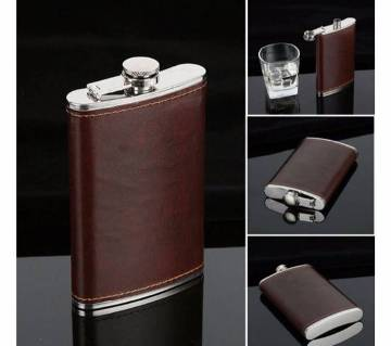227ml Stainless Steel Leather Hip Flasks