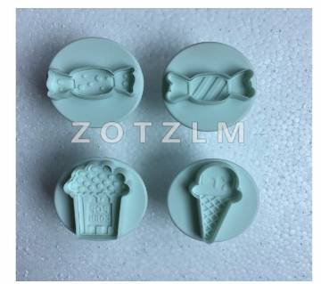 4 pcs/set 4 Sweets Snack Shape Plastic Cookie Cutters