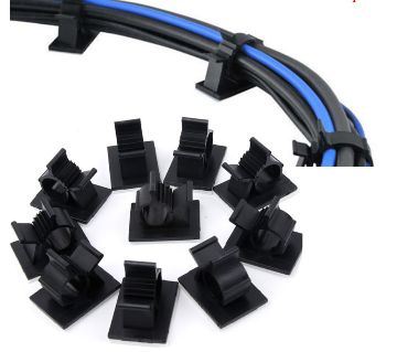 10Pcs/lot 13mm Cable Clips Adhesive Cord Management Wire Holder Organizer