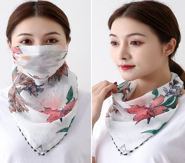 Protective Summer  Cycling Face  Scarf  Facemask Ice Silk Anti-UV Running Mask