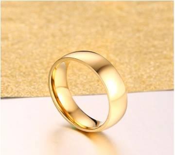 Gold Colour Titanium Steel Ring For Men