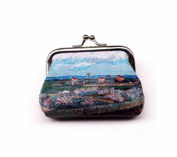 9cm Creative Leather Coin Purse Vintage Clasp Wallet For Women