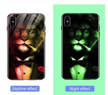 IPhone Xs case Luminous Glass Case Glow in Dark
