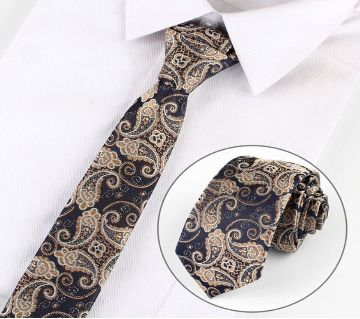 Luxury Classic  Flower Print 7Cm Slim Mens Neck Ties
