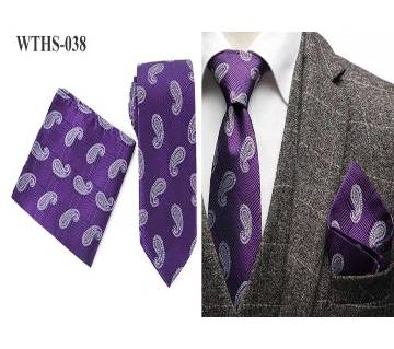 Luxury Tailor Smith Necktie and Pocket Square Handchief Set