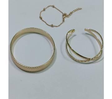 3Pcs/set Bohemian Gold color Bracelet Set for Women