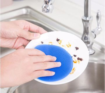 Soft Silicone Dish Bowl Pot Pan Cleaning Sponges Pads Cleaning Tool