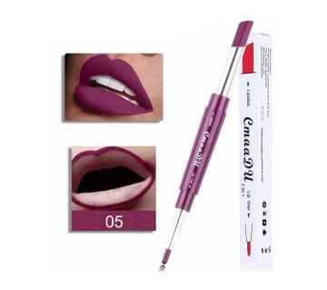 Multi-functional Waterproof Long Lasting 2 in 1 Lipstick+Lip Liner Easy to Wear Batom Make Up
