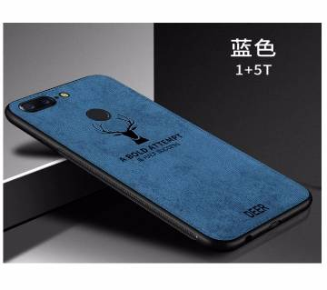 Luxury Soft Silicone+Fabric Phone Case For one plus 5T
