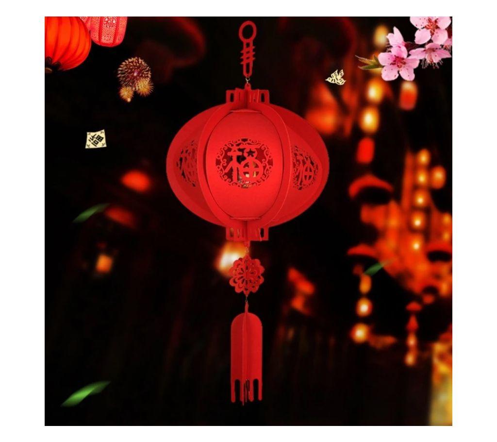 1PC Paper Chinese Spring 3D হ্যাংগিং প্যালেস ফর রুম ডেকোরেশান বাংলাদেশ - 1205183