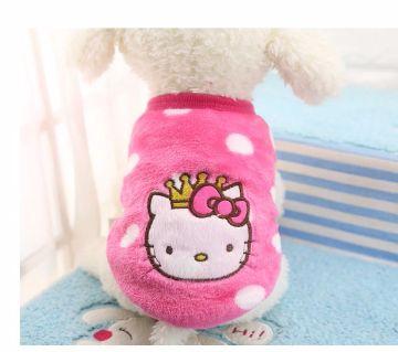 Puppy Dog Cat Clothing Soft Warm Dresses Little puppy size XS 20CM