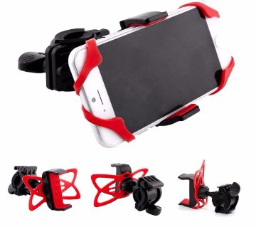 Adjustable Bicycle Bike Silicone Strap Anti-shedding Mobile Phone Holder