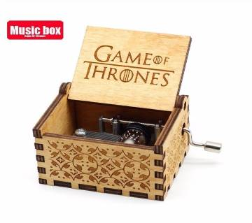 Antique Carved Wooden Game Of Thrones Music Box