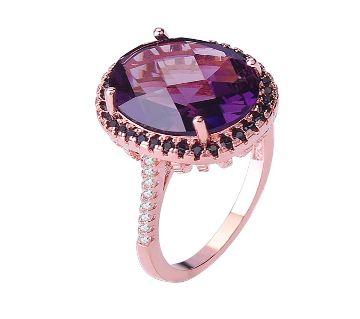 Purple Zircon Rings For Women