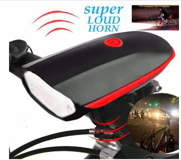 Electronic Bike 2 in 1 Bicycle Light Bell Horn Speaker AAA Battery Powered
