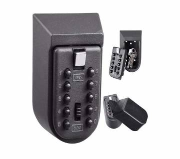 10 Digit Combination Full Lock System Wall Mounted Outdoor Waterproof Alloy Key Storage Lock Box