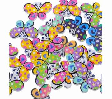 10pcs 30mm*20mm mixed Colour decorative craft wood Butterfly Buttons