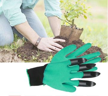 Gardening Washable Gloves with 4 ABS Plastic Claws Easy Digging Garden Planting