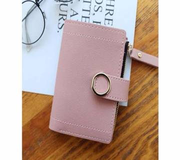 Cute Leather Women Wallets Zipper Purses