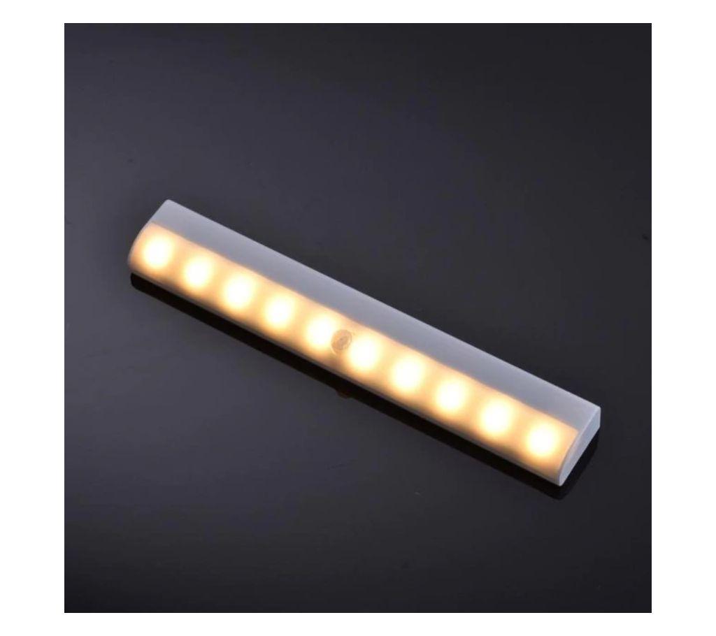 PIR Motion Sensor 10 LED Car Kitchen Cabinet করিডোর নাইট লাইট বাংলাদেশ - 1207142