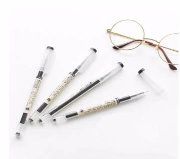 3Pcs/Set 0.35mm Gel Pens Office Black Ink Stationery Pen
