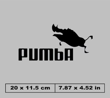 PUMbA letter patches Stickers diy patch heat transfers iron on for clothing clothes