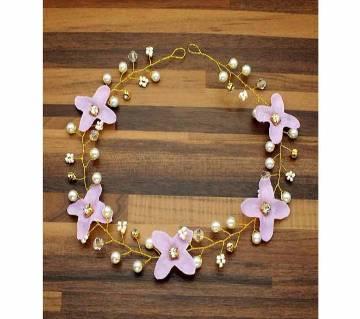 Elegant Purple White Hair Flower Headband  For Women