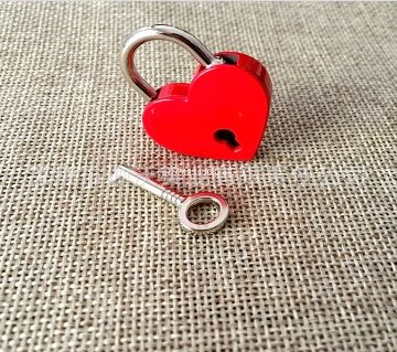 1 pcs Heart Shaped Mini Padlock Luggage Hardware Security Anti-theft Buckle Locks