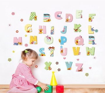 26 English alphabets PVC Wall Stickers Home Decor kids Rooms