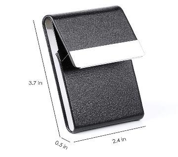 Portable Metal Leather Card,Visitimg Card Holder Case