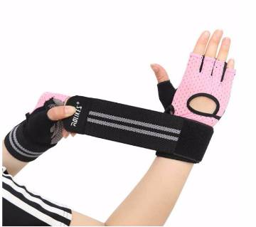 Half Finger Sports  Gym Fitness Weightlifting Gloves Anti-slip Resistance Exercise Training Wrist Glove