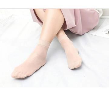 5pair=10pieces Velvet Thin Transparent Ankle Womens Socks