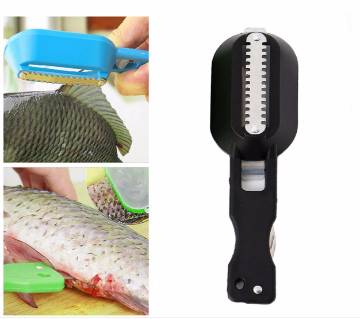 1 pcs Cleaning Fish Skin Steel Scales Shaver Remover Cleaner Fishing Tools Kitchen Tool Knife