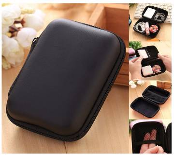 1PC Cosmetic,Earphone Bags Hard Nylon Carry Bag Compartments