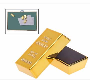 1Pc Gold Brick Shape Magnets Resin Craft Gift fridge sticker Home Decoration