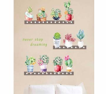 Garden 3d vivid Plant flower Wall Stickers For Home Decor Living Room Kitchen