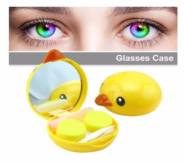 Cute Yellow Duck Shape Lens Case With Invisible Glasses