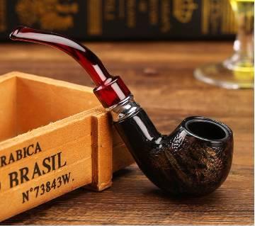 Snake Scale Resin Double Filter Smoking Pipe Herb Tobacco Cigar Narguile Grinder Smoke