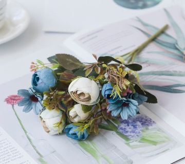 5 Bundles Cute Artificial Flowers  For Interior Home Decoration