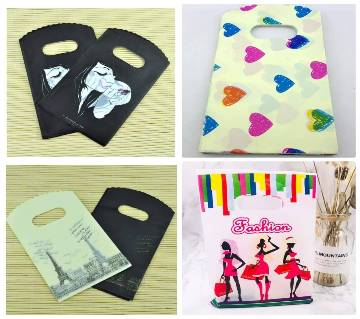 10pcs/lot Mini Cute plastic bag For jewelry gift packaging bag gift bags shopping bags with handle