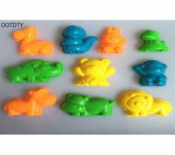 10PCS Animals Sand Clay Beach Toys Clay Mud Molding  For Kids Child Toys