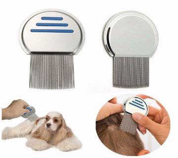 Stainless Steel  Hair Rid Head Lice dandruff Remove Pet comb