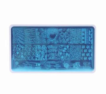 Nail Art Stamp Plate Charm