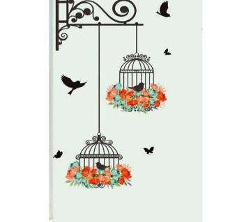 Birdcage Bird Decorative Painting Wall Stickers